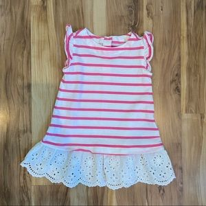 Like New — Baby Gap Pink and White Dress 6-12M